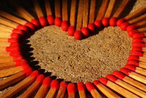 love heart matches