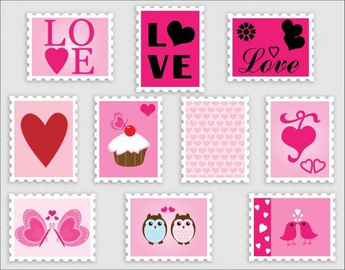 love romance stamps