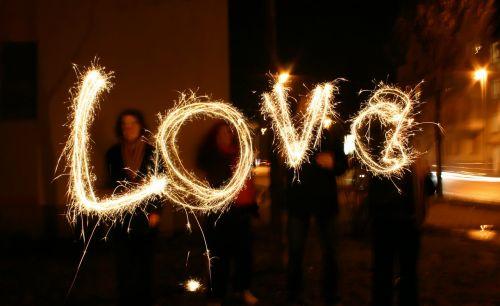 love at night evening