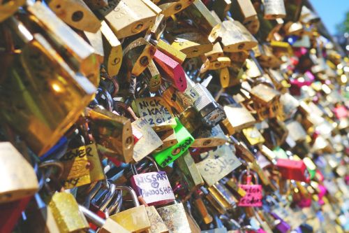 love locks love love castle