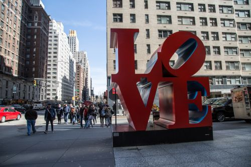 Love Sculpture In New York