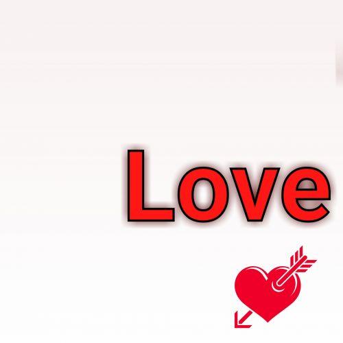 meilė, tekstas, širdis, raudona, rodyklė, izoliuotas, balta, fonas, meilės tekstas