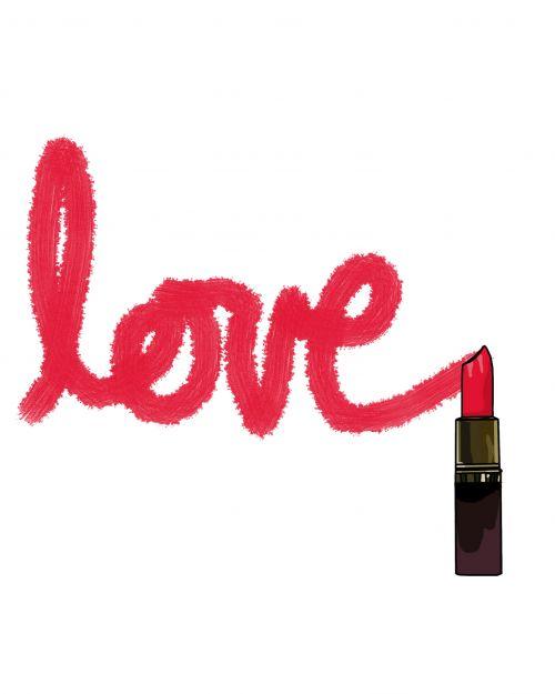 Love Written In Lipstick