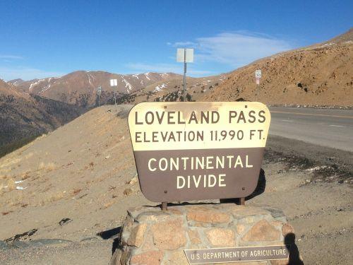 loveland pass continental divide mountain pass