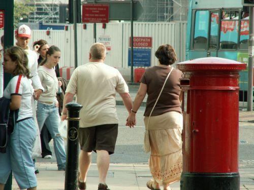 lovers walking romantic