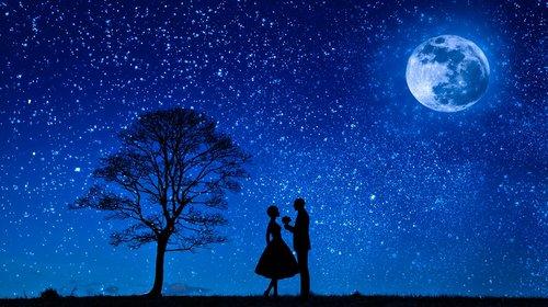 lovers  moon  love