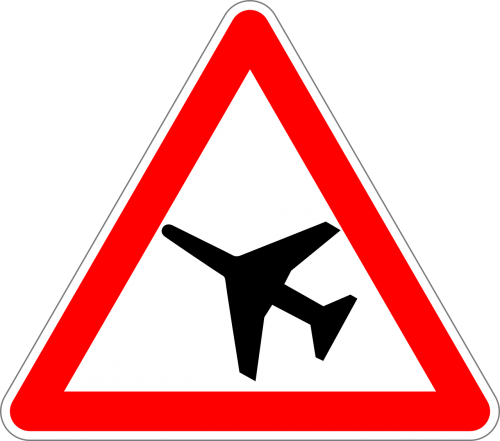 low-flying aircraft traffic sign sign