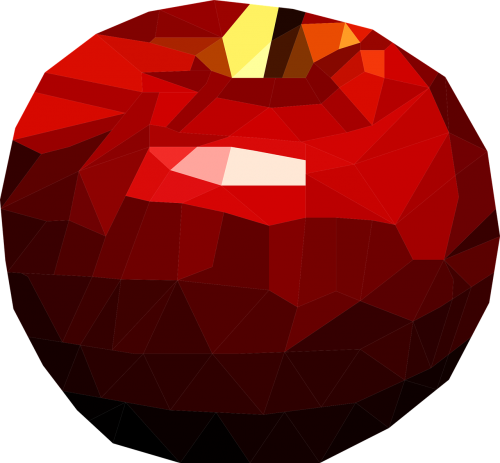 low poly apple poly