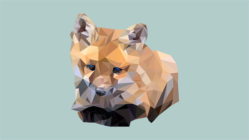 low poly  illustrator  fox