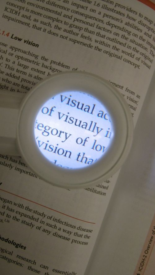 low vision magnifier optical