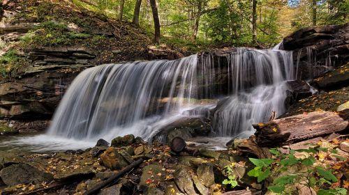 lower tew's falls waterfall cascade