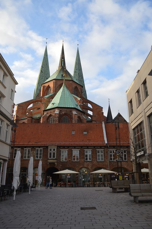 lübeck  schrangen  st mary's church