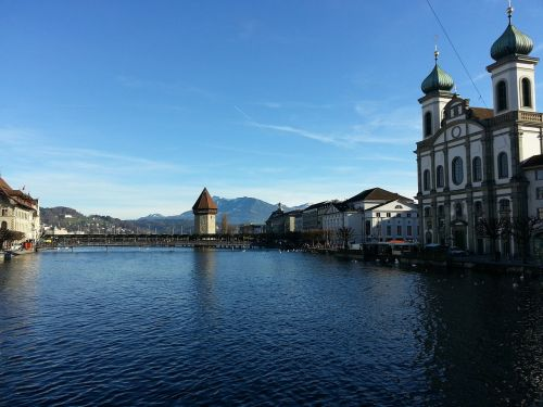 lucerne city bridge