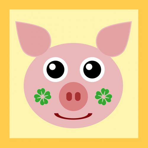 luck lucky pig pig