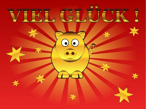 lucky pig congratulations greeting