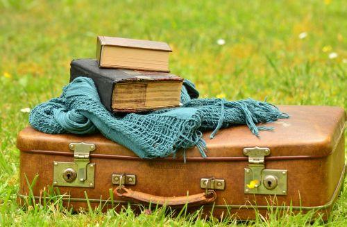 luggage leather suitcase old
