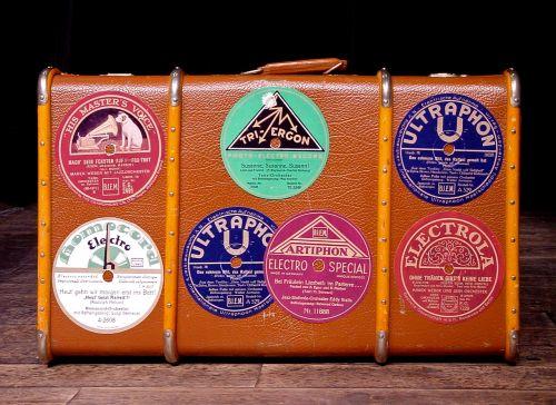 luggage sticker old suitcase