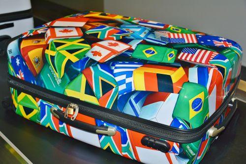 luggage colorful holiday