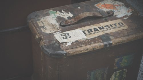 luggage old old suitcase