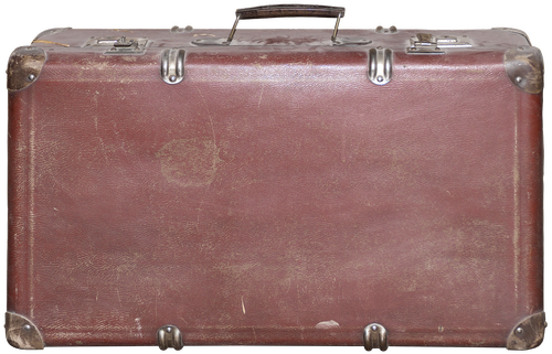 luggage  old suitcase  leather suitcase