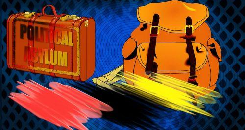 luggage backpack background