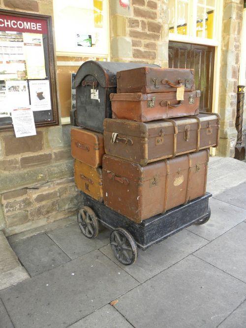 luggage suitcase station platform