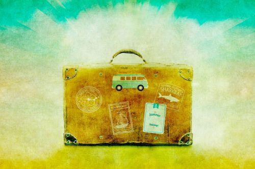 Luggage, Suitcase, Illustration