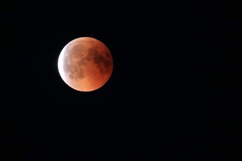 lunar eclipse  moon  moonlight