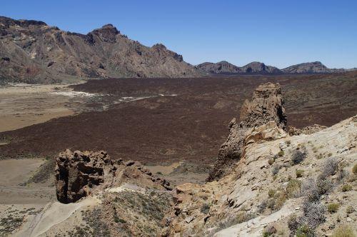 lunar landscape teide lava