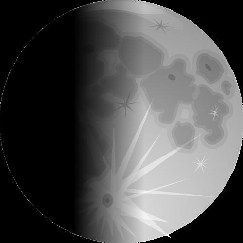 lunar phases moon half