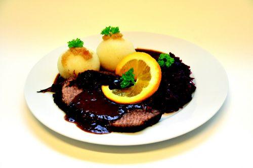 lunch roast beef dumplings with meat