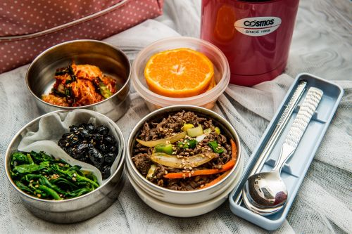 lunch box lunch dishes korean