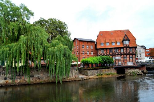 lüneburg,building,old mill,truss,architecture,city