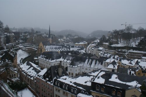 luxembourg in snow luxembourg winter europe