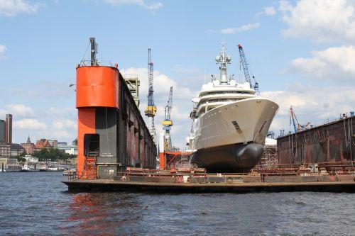 luxury yacht oligarch dry dock