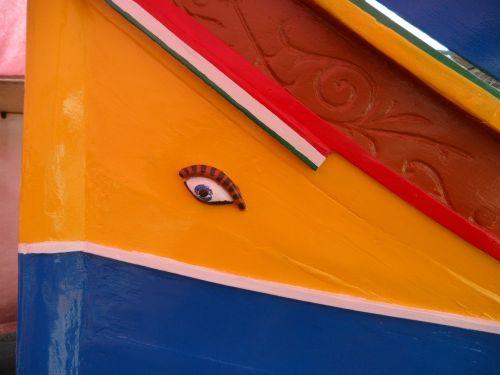 luzzu colorful boat color