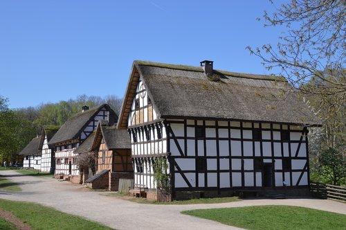 lvr kommern open-air museum  old houses  barns