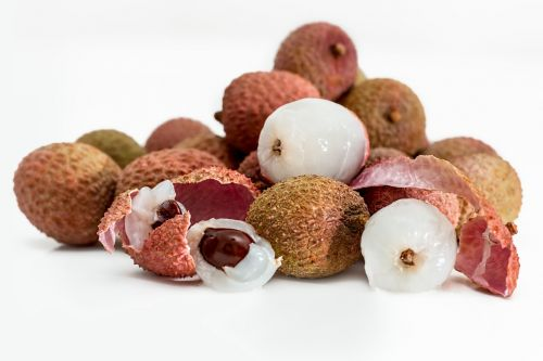 lychee litchi tropical fruit