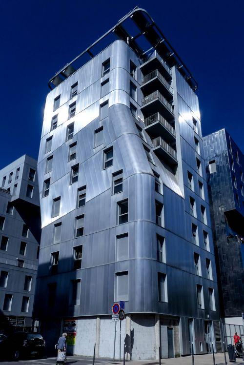 Lyon,susivienijimas,architektūra,šiuolaikinis,dekonstrukcija,fasadas,šiuolaikinė architektūra,langai,france