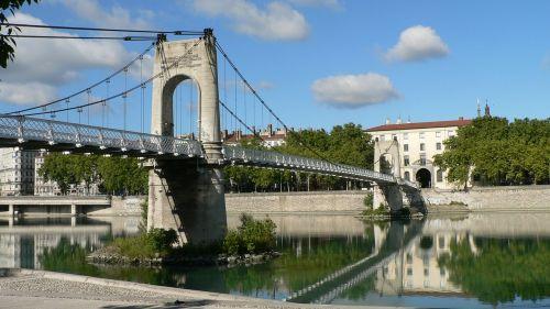 lyon bridge rhône