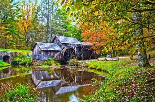 Mabry Mill In Virginia
