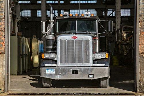 mac truck  garage  industrial