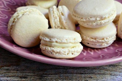 macarons  meringue  dessert