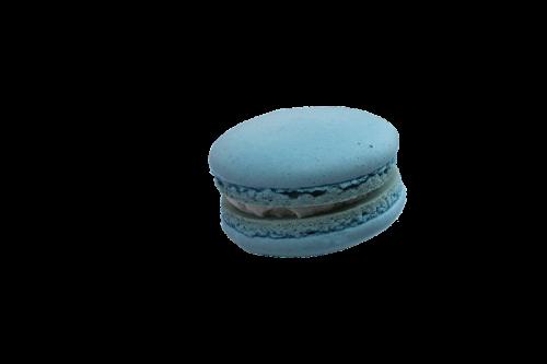 macaroon yogurt with baby blue christmas macarons