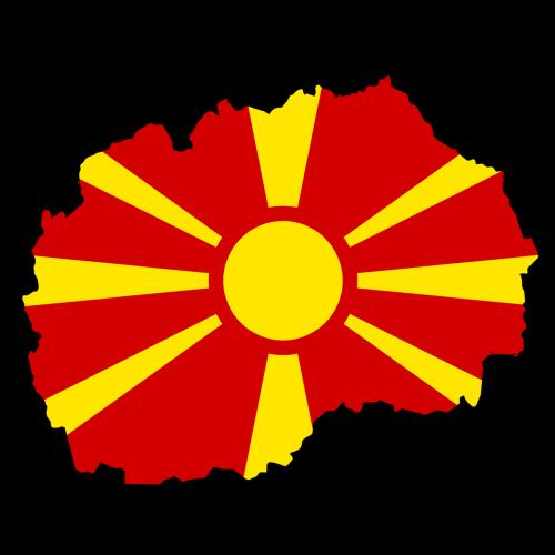 macedonia map land