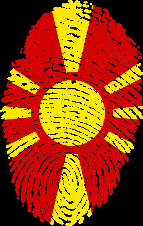 macedonia flag fingerprint