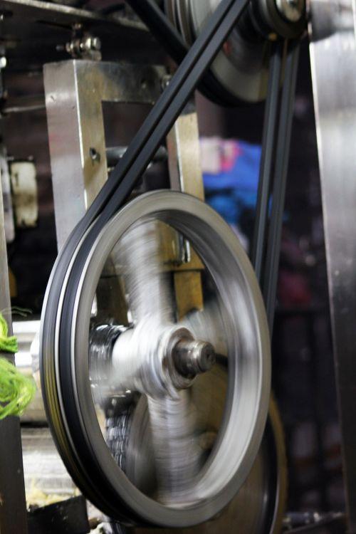 machine wheel turning