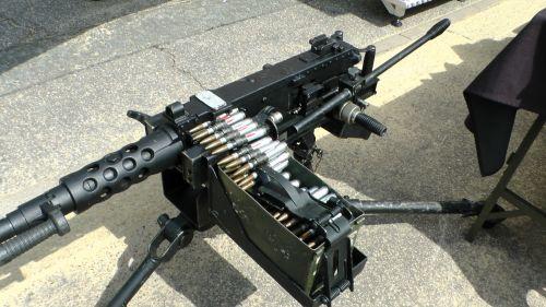 Machine Gun With Bullets