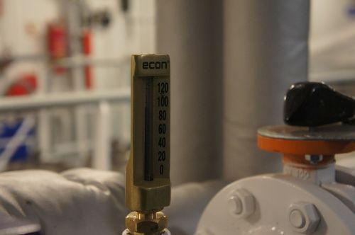 machine room temperature gauge boat