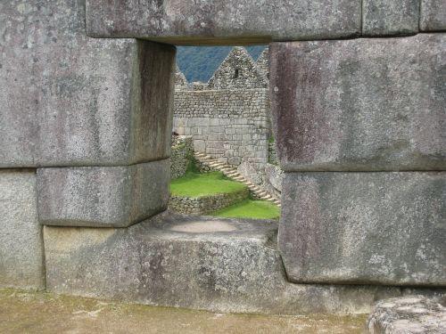 machu picchu masonry wall